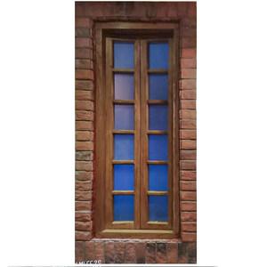 实木窗定制乡村风实木对开纯原木窗