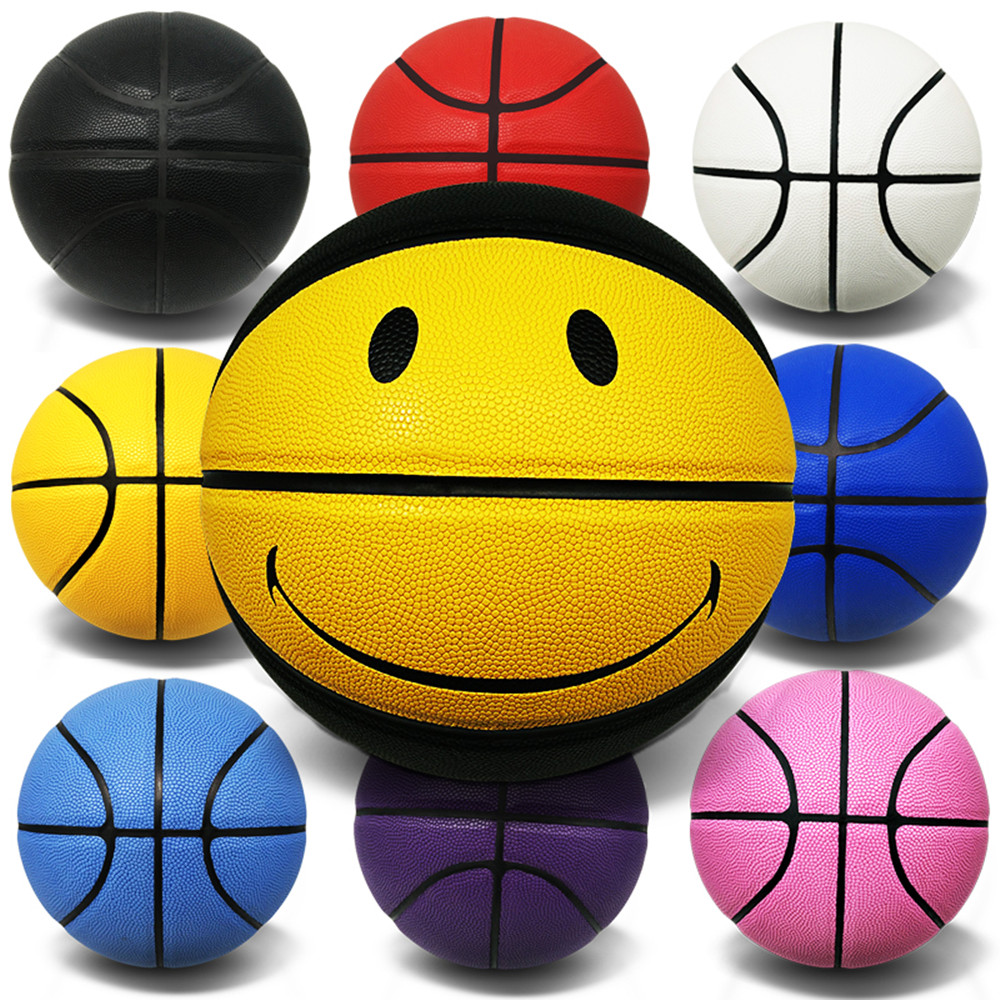 Ball skin cement floor wear-resistant Lanqiu no printing trademark solid blue ball Pu wear-resistant outdoor No.7 personalized basketball
