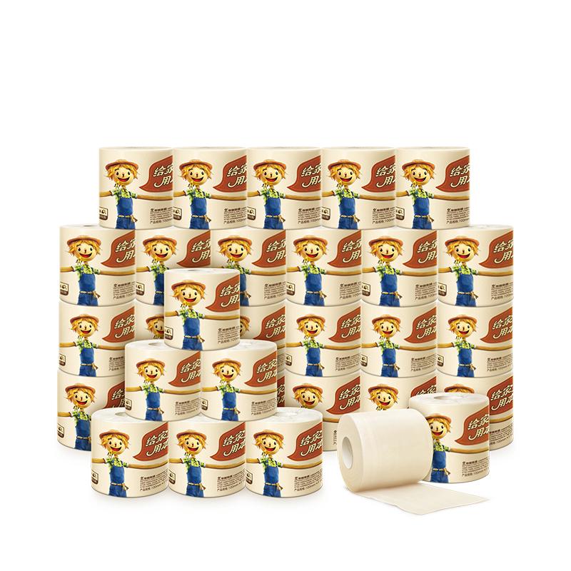 ~天貓超市~泉林本色不漂白原漿紙140g3層^~27粒WK140 大包裝