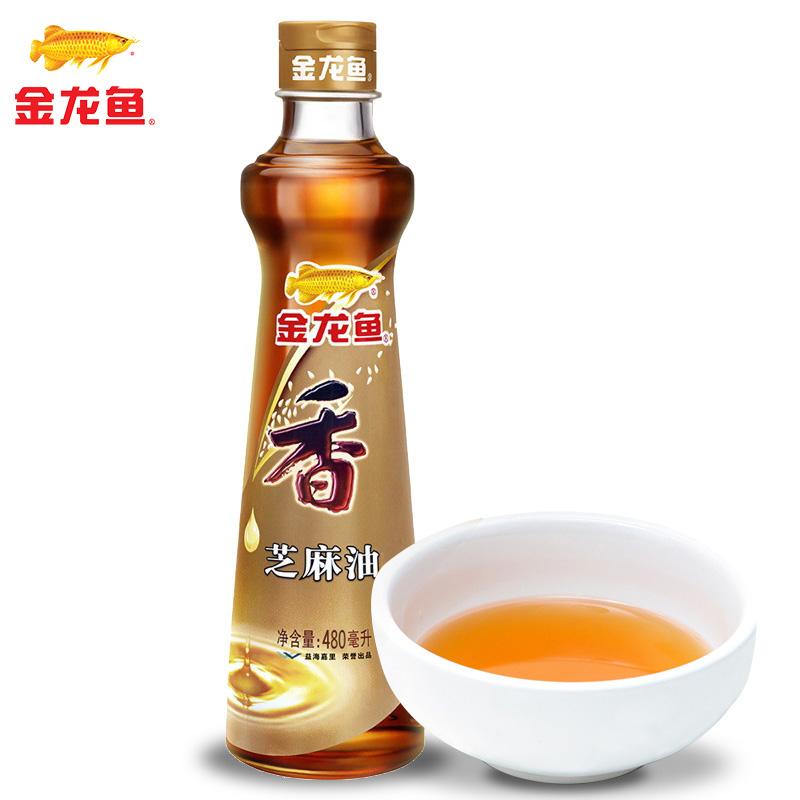 ~天貓超市~金龍魚 純芝麻油480ml 涼拌香油