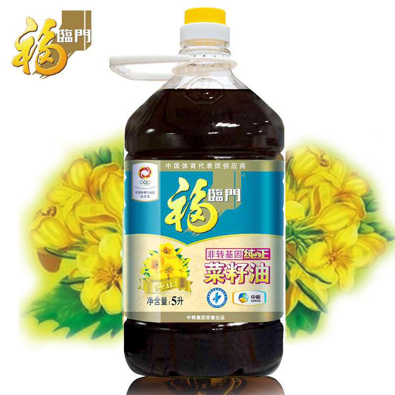 ~天貓超市~福臨門非轉基因純正菜籽油5L 食用油 中糧