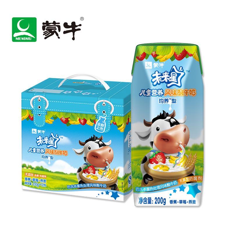 ~天貓超市~蒙牛 未來星兒童營養風味酸牛奶200g^~12盒