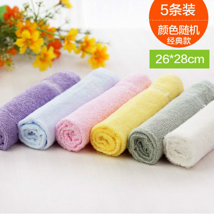 Oriya bamboo fiber towel small square towel for women and men square children handkerchief baby wash face non pure cotton