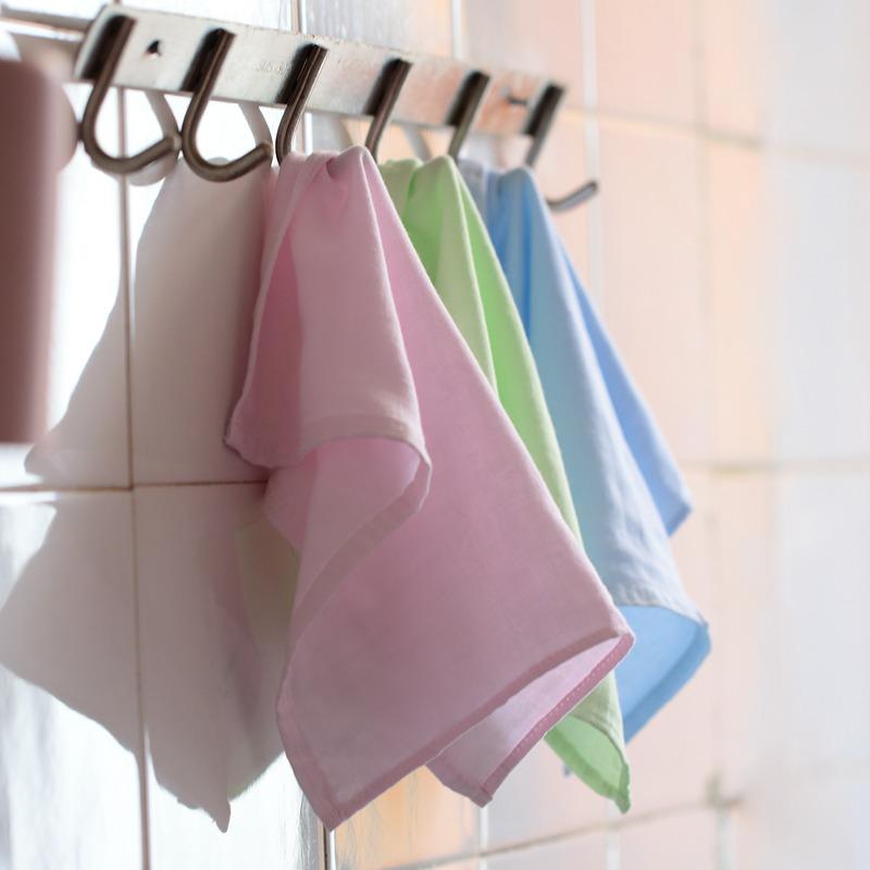 5-10条装利民生竹纤维纱布口水巾洗脸小方巾小毛巾