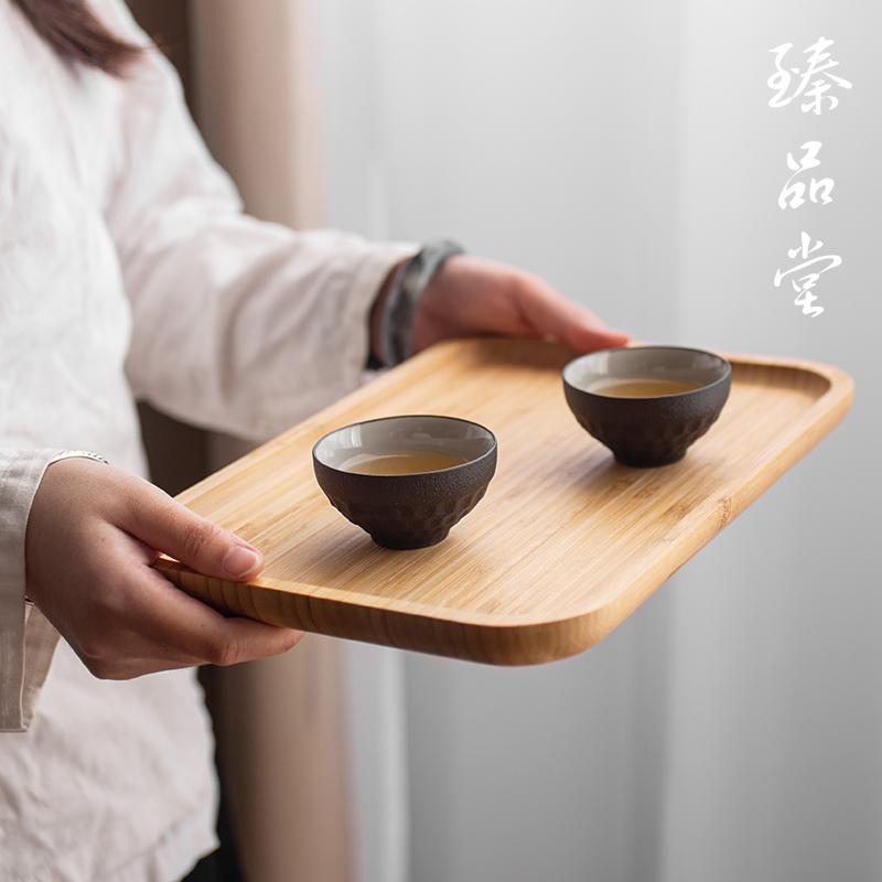 竹子茶盘家用简约茶海家用干果托盘长方形小茶台茶海大号竹制茶盘