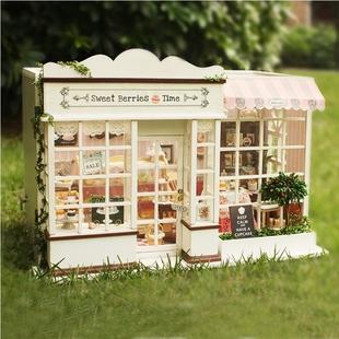 惡作劇之吻蛋糕房diy小屋甜蜜漿果時光手工房子浪漫微縮場景擺件