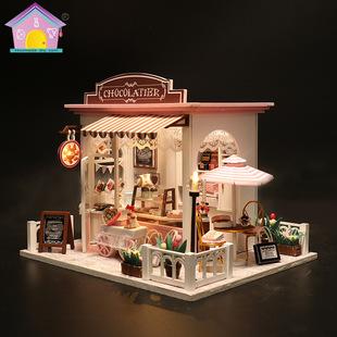DIY小屋甜品屋模型歐式蛋糕店手工微小型精緻女生日禮物ins小房子