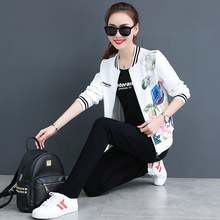 2009 New Korean Fashion Large Size Women's Leisure Sports Suit Women's Autumn Guard Baseball Suit