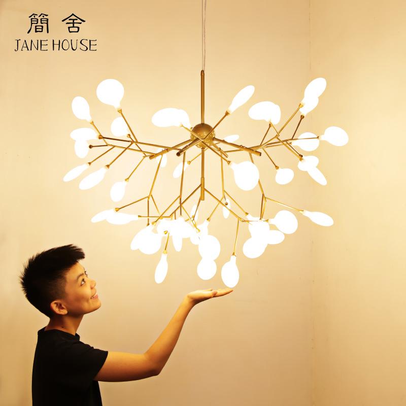 北欧吊灯后现代简约风格创意餐厅温馨卧室灯客厅灯树枝萤火虫灯具