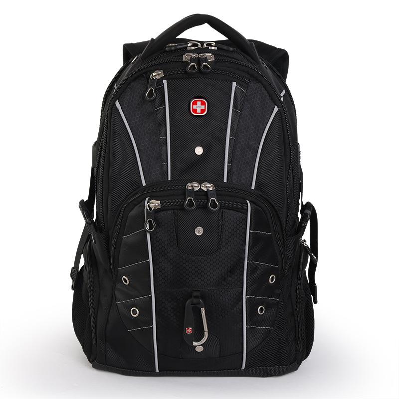 瑞士军刀双肩包17.3英寸笔记本电脑包大容量书包背包男防盗背包