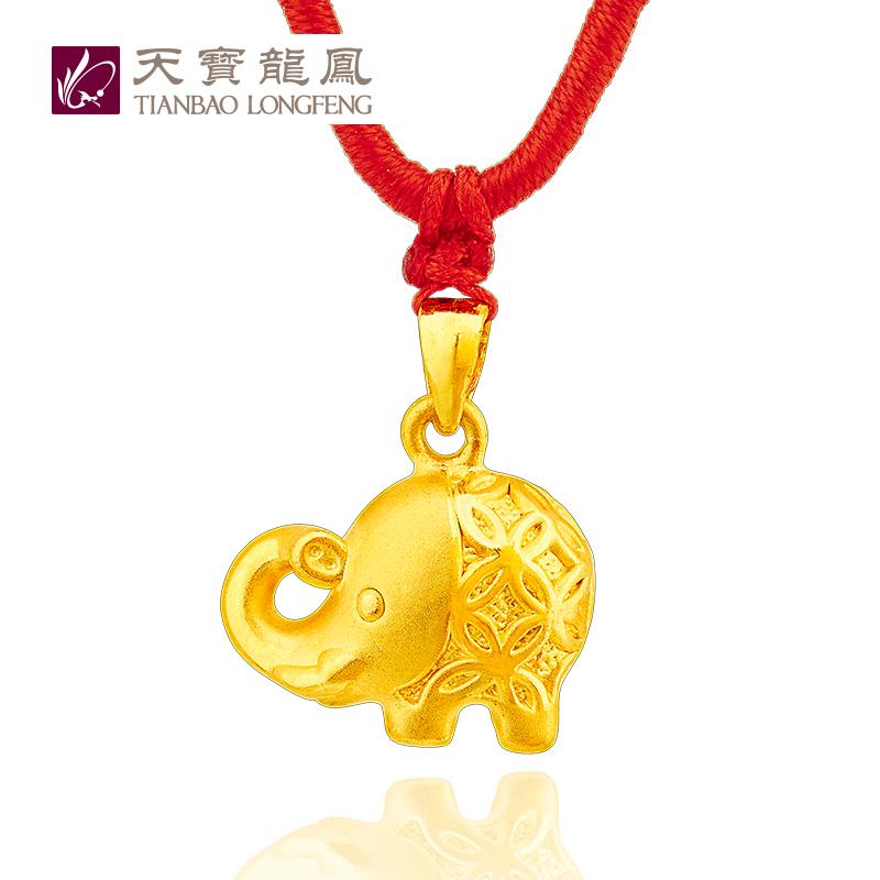 A Tianbao Longfeng [Ruyi Jixiang] full gold 999 Pendant Necklace Pendant gold jewelry