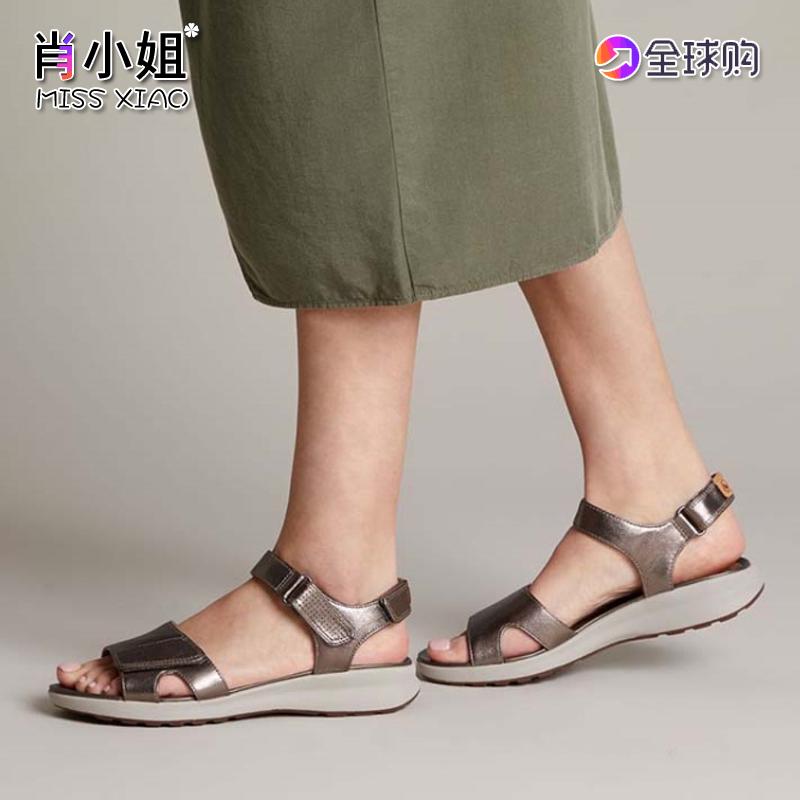 Clarks其乐女鞋2020春夏新凉鞋平跟沙滩鞋Un Adorn Calm正品代购