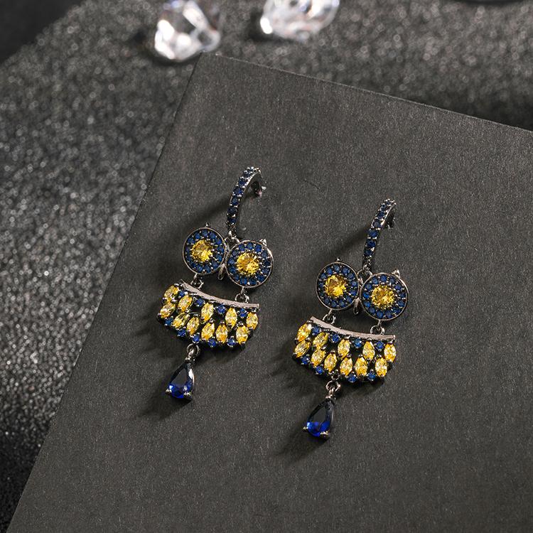Japanese Light luxury anti allergy 925 pure silver needle Earrings