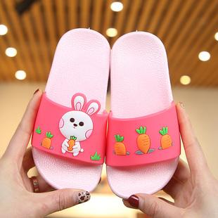 男宝宝凉拖鞋 夏季 儿童拖鞋 女童可爱小公主浴室防滑软底室内家居鞋