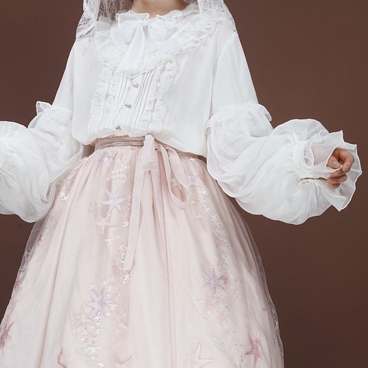 [drop from stock] Lilith Lolita shirt is lovely and gorgeous and original design to Huajian