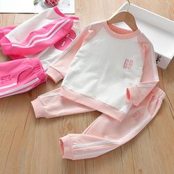 女童套装秋装新款春秋长袖童装儿童纯棉休闲秋装女宝宝洋气运动套