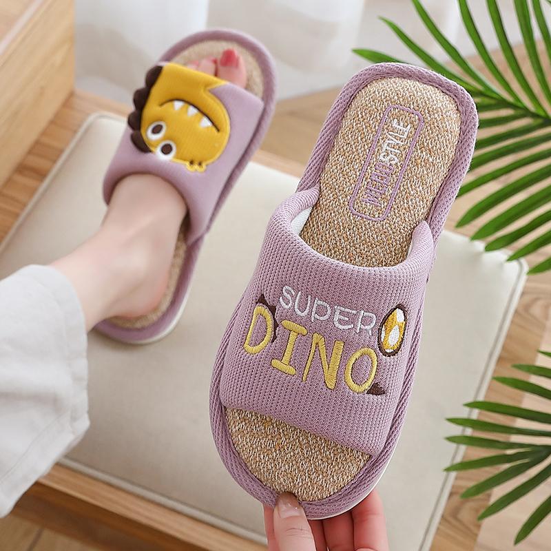 卡通亚麻拖鞋女家用四季室内厚底质量如何?