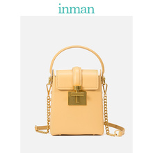 Inman Box Bag Square Bag 2019 New Genuine Leather Bag Square Bag Square Bag