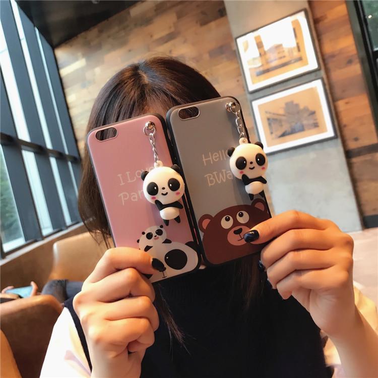 韩国卡通小熊熊猫 苹果4/4s手机壳iphone5/5S硅胶套5se女款潮牌