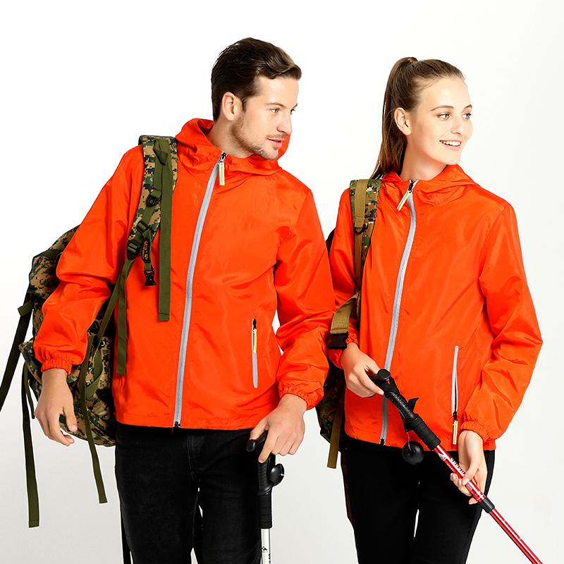 diyカスタムフロントジャケットのクラス服の広告服のファスナーの長袖ジャケットの屋外作業服のロゴを印刷します。