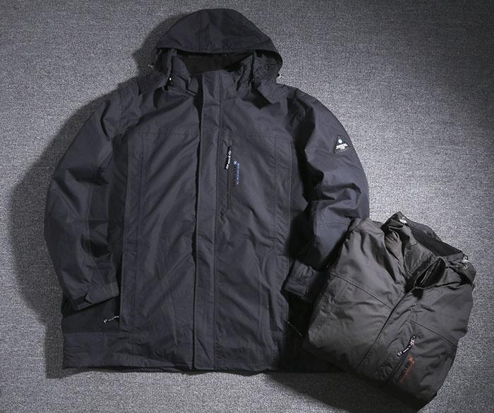 冬户外男胖子肥佬特大码加肥加大180胸围防风防水冲锋衣夹克外套