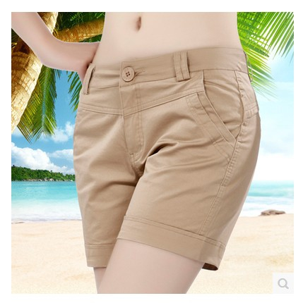 [special price every day] cotton shorts show thin casual simple quarter pants Korean womens high waist big size hot pants