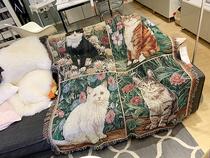 鱼尾巴空调毯沙发盖毯针织休闲毯午睡毯鱼鳞美人鱼尾毛毯ins