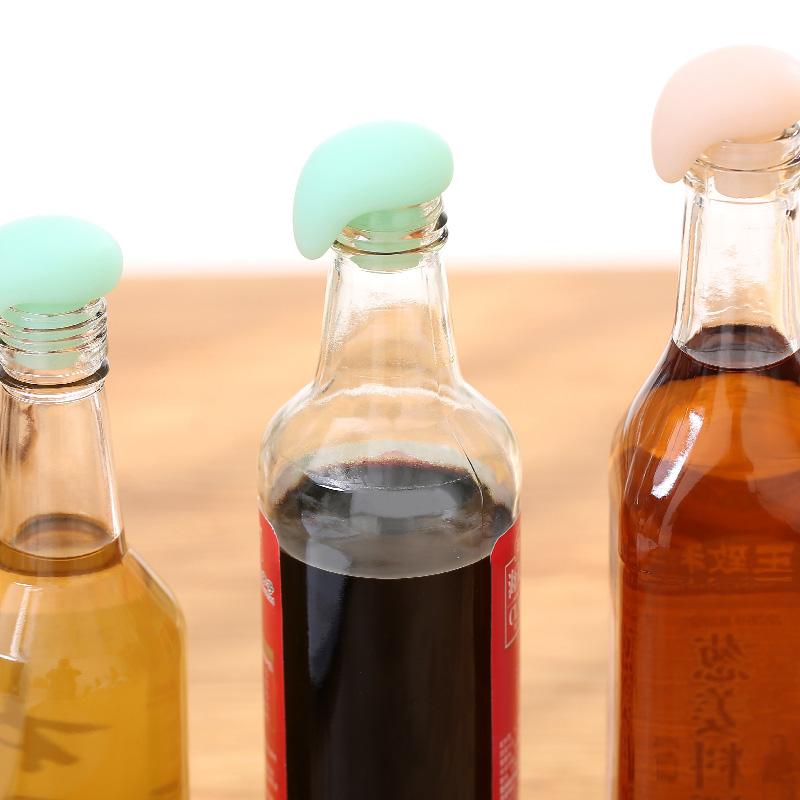 日本红酒瓶塞家用创意硅胶玻璃瓶塞香槟酒葡萄酒塞酱油醋调料瓶盖 Изображение 1