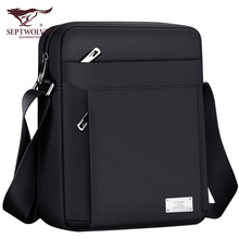 Seven Wolves Men's Bag Oxford Business Leisure One Shoulder Bag Chao Men's Bag Slant Bag Vertical Briefcase Korean Edition