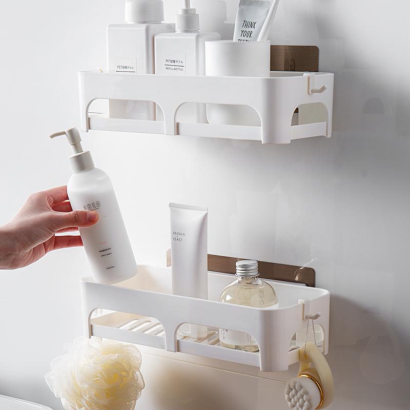 壁挂免打孔浴室收纳架卫生间厕所洗手间架子吸盘卫浴洗漱台置物架