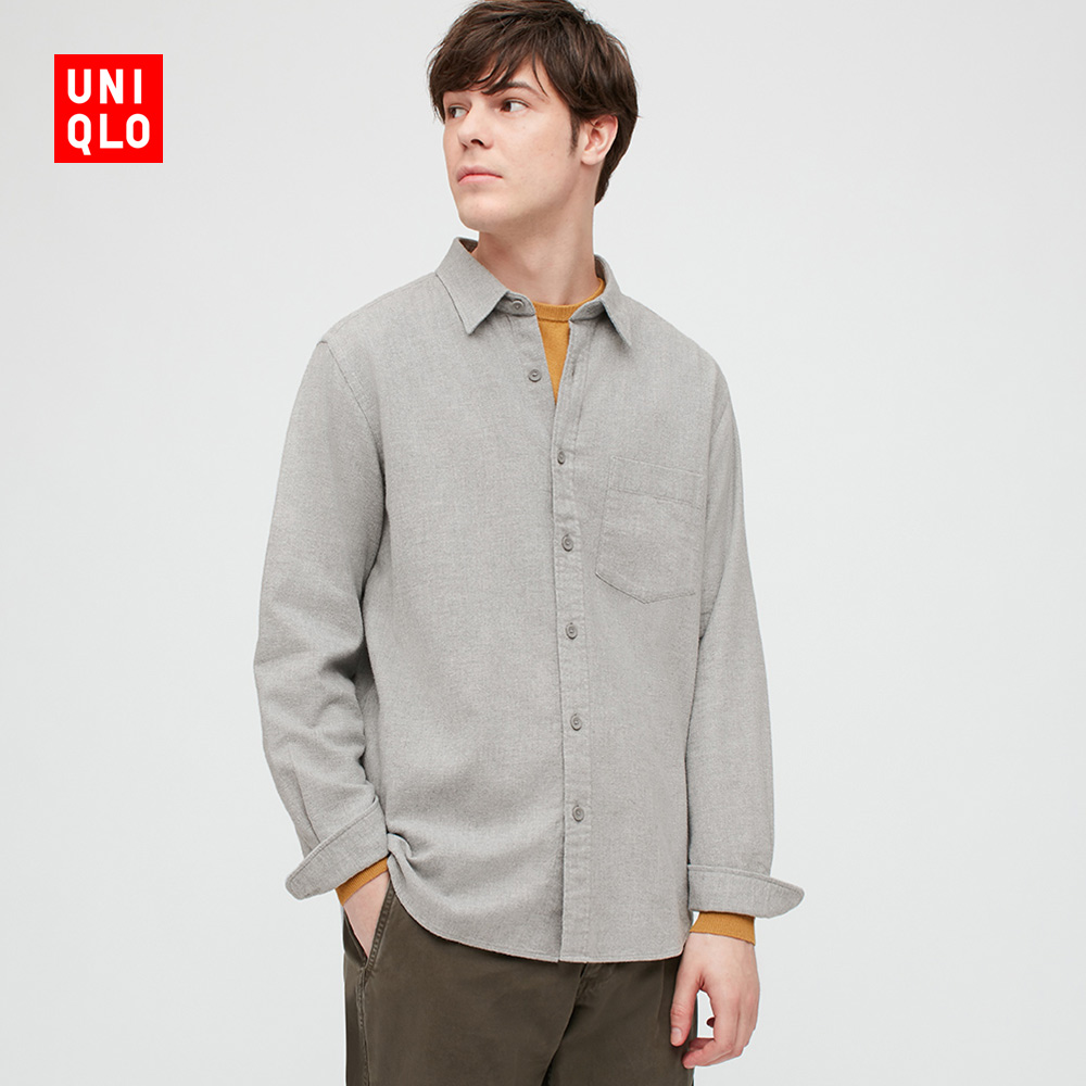 Uniqlo men's flannel shirt (long sleeve) 428968 UNIQLO