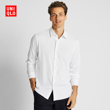 Men's worsted knitted shirts (long sleeves) 421861 Uniqlo
