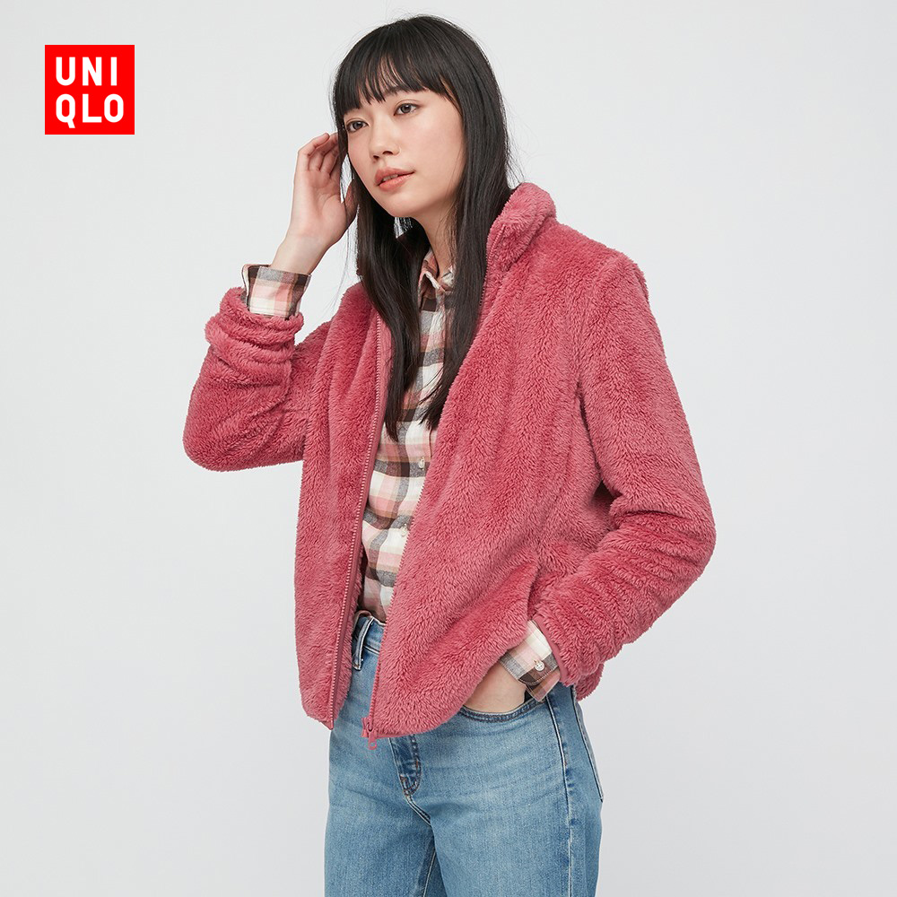 Uniqlo women's clothing long pile polar fleece zipper jacket (long sleeve) 428330 UNIQLO