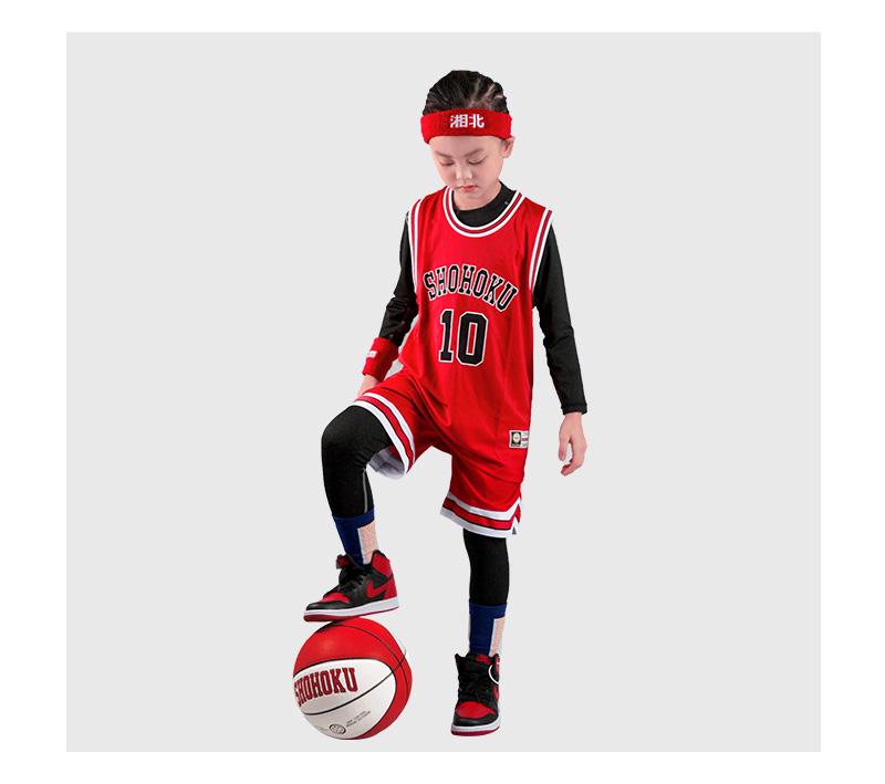 定制订做 儿童篮球服套装篮球衣队服童装灌篮高手湘北队樱木花道