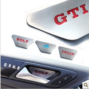 Volkswagen Golf 6 GTI Tiguan New Sagitar dedicated refit door bowl stickers affixed anti scratch metal sequins