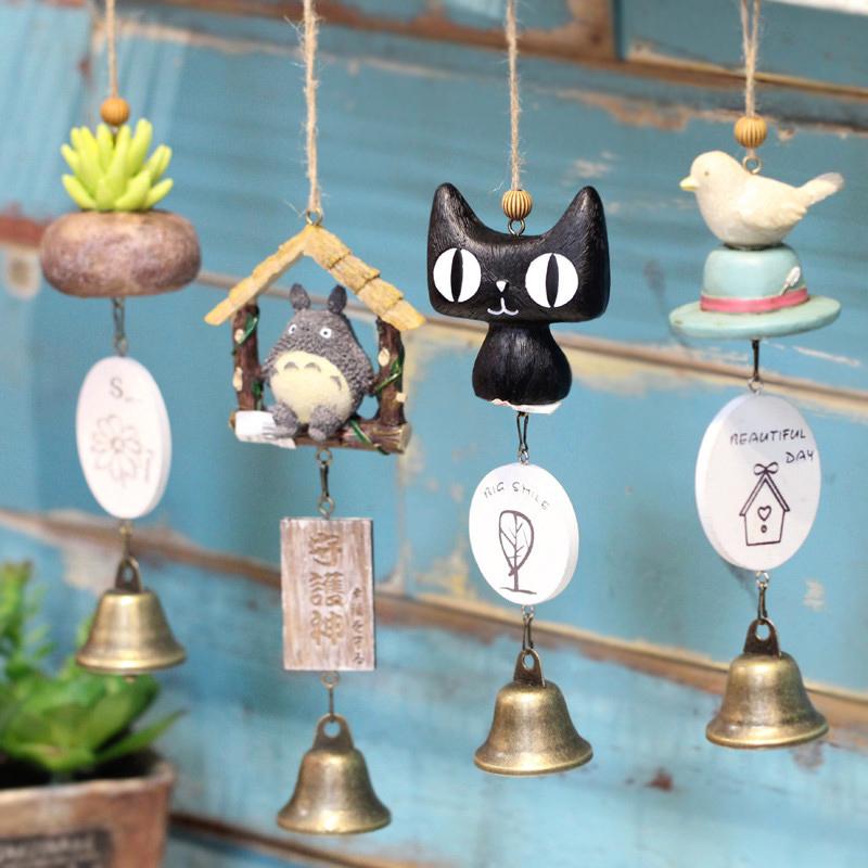 创意日式风铃挂饰门饰可爱萌物女生儿童生日礼物卧室阳台铃铛挂件