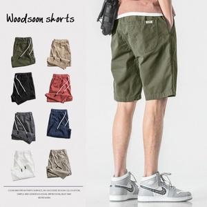 夏季男士纯棉宽松休闲五分裤短裤