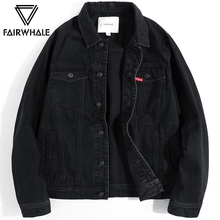 Mark Huafei denim jacket male 2019 spring new black lapel tooling suit Korean version of the trend casual jacket