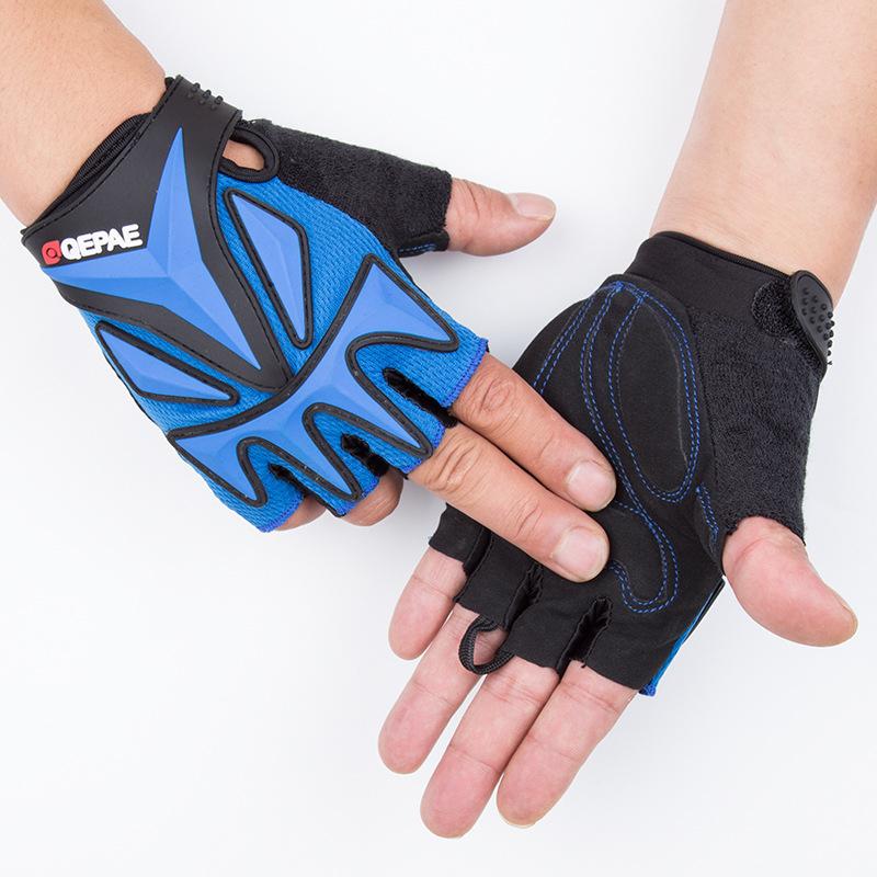 定制Qepae/奇珀尔防滑短指运动夏季健身防滑骑行半指手套厂家QG038