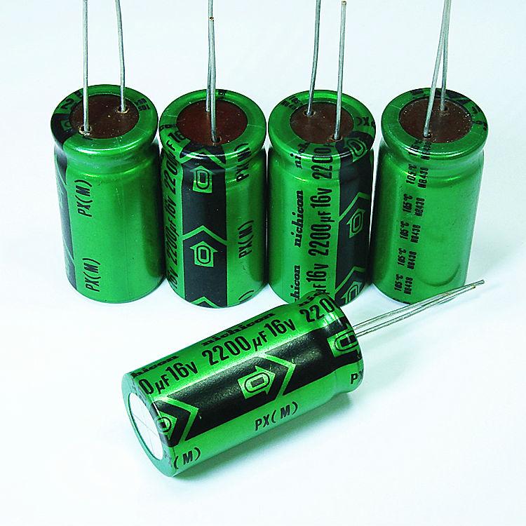 Nichicon (nijikang) PX серия электролитические конденсаторы (2200мкФ/16V) том 18 ? 36 мм
