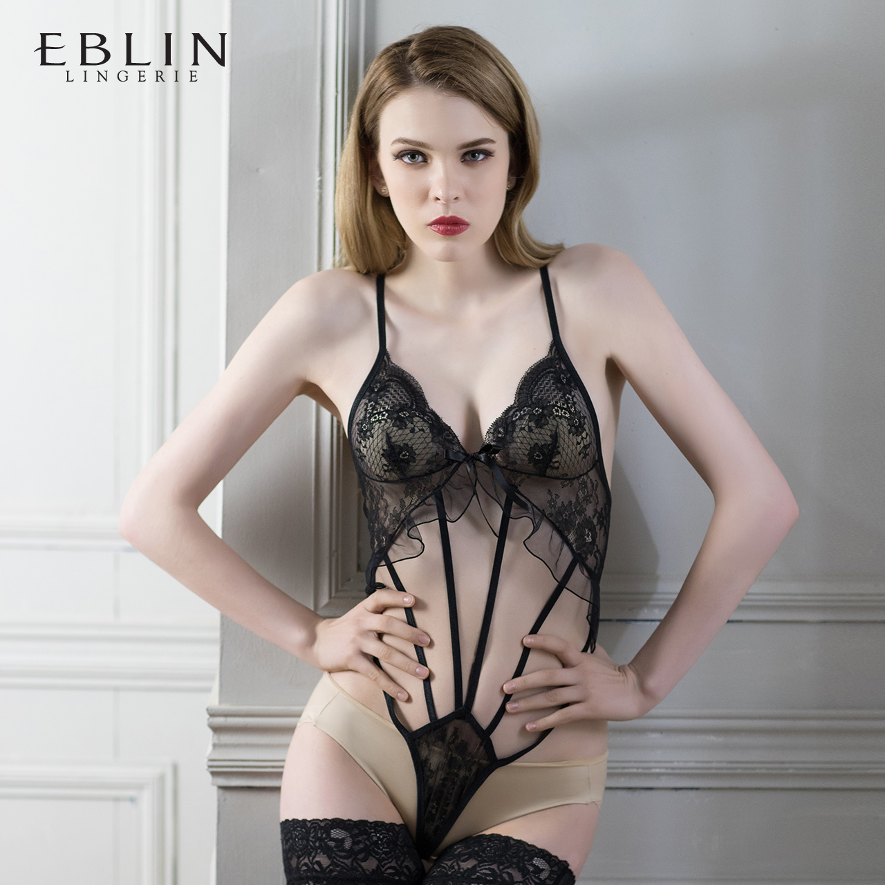 【 новые товары 】EBLIN сексуальный кружево вязание крючком лотос кружево fun внутри одежда ECFN78TG41
