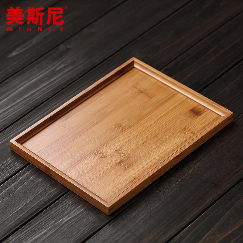 美斯尼竹子茶盤 茶海 28CM~22CM 茶盤 茶台竹 茶海 竹 竹製茶盤