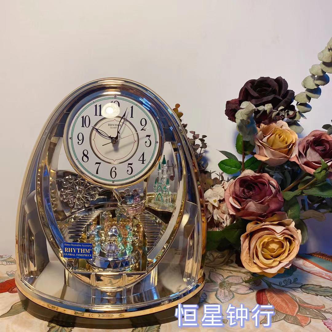 丽声童话王国梦幻时尚办公室座钟4SG725静音台式桌面表欧式摆钟 Изображение 1