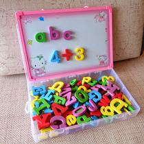 儿童英语单词磁性卡片 小学生英文字母磁力贴 益智数字玩具教具