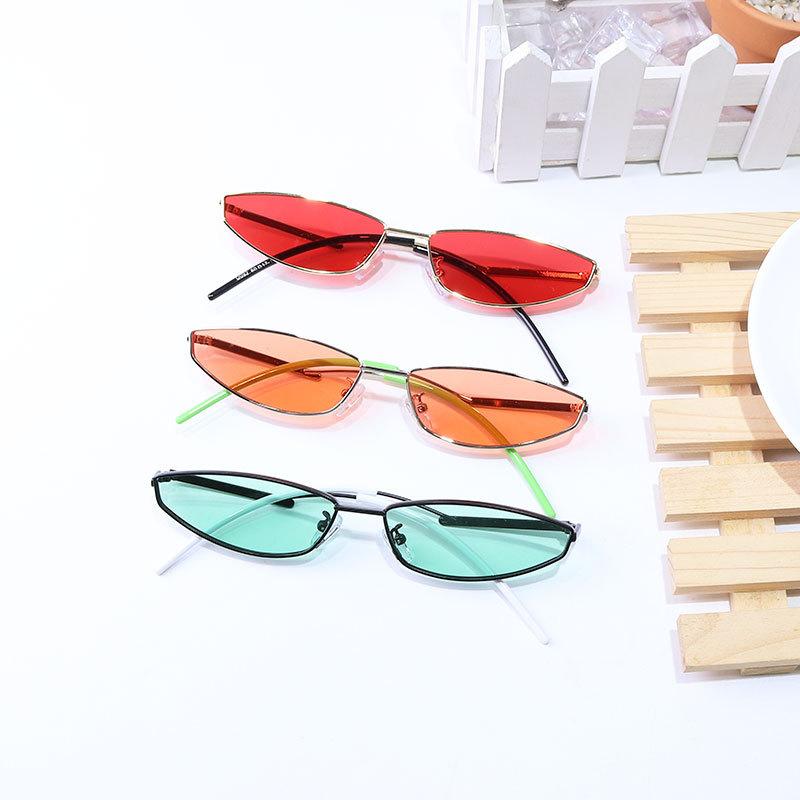 Rectangular small frame metal sunglasses flat myopia spectacles male RETRO SUNGLASSES female Korean version of chaohara