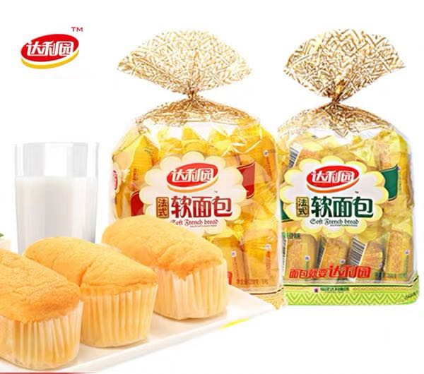 Daliyuan French soft packaging China 200g milk flavored soft bread