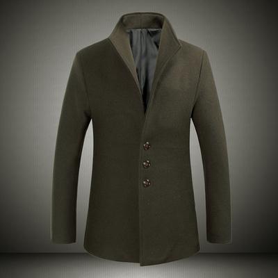 新款羊毛呢外套中长款修身精品 700克重40羊毛60其他5005-885P105