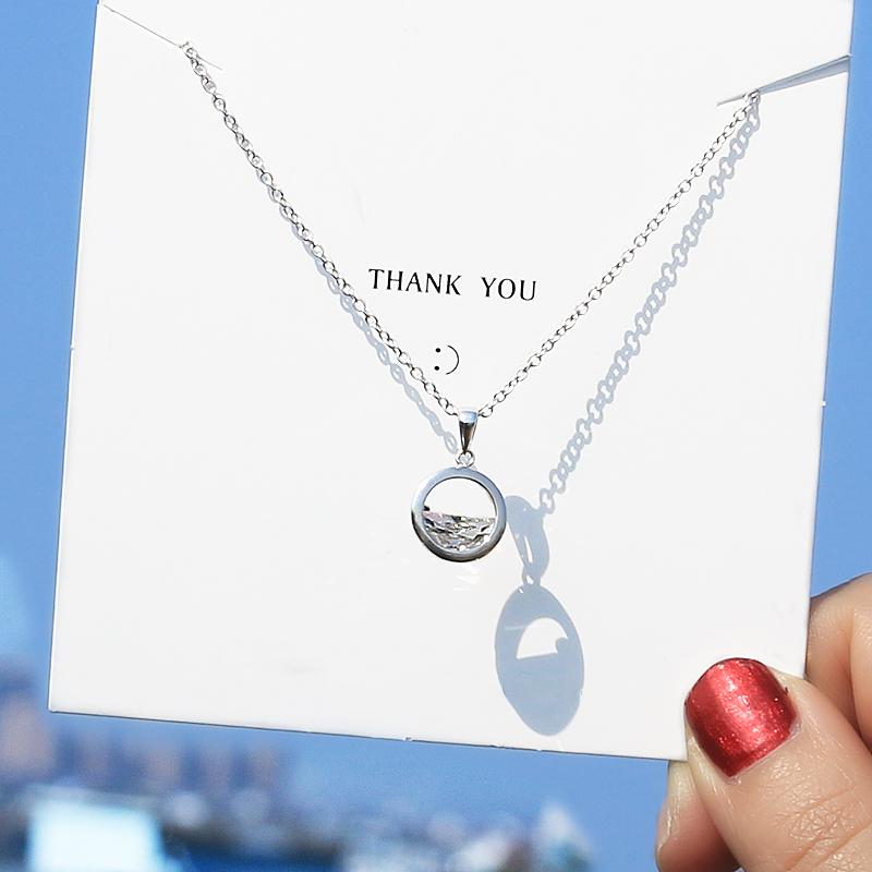 韩版时尚转运珠项链女锁骨链柔美吊坠配饰品送女友生日情人节礼物