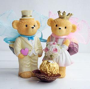 創意喜糖盒子歐式個性泰迪熊婚禮回禮伴手禮做車飾品婚慶用品
