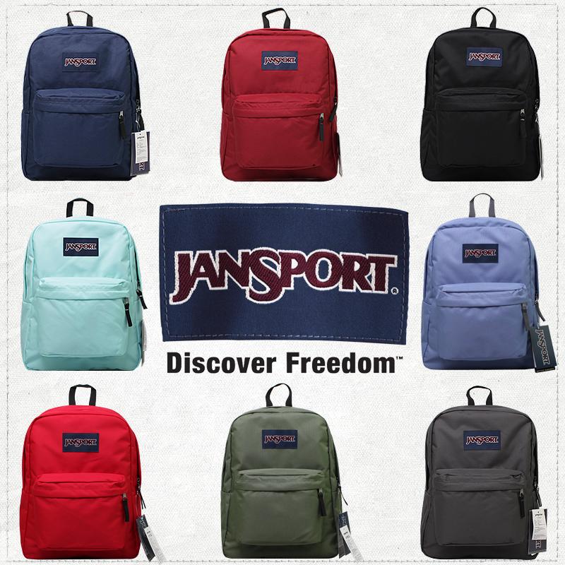 JanSport杰斯伯双肩包官方正品叛逆学院风书包男女款背包T501纯色